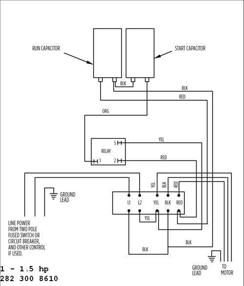 [ANLQ_8698]  Franklin Electric 1-1/2 or 1HP 230V Control Box W/Overload | Franklin Electric Control Box Wiring Diagram |  | www.wwpp.co