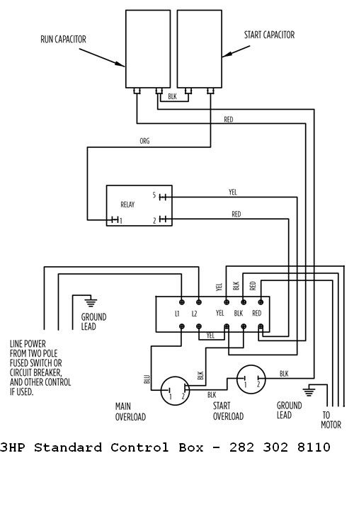 franklin 3hp 230v standard control box pro p ignition box wiring diagram santee box wiring diagram